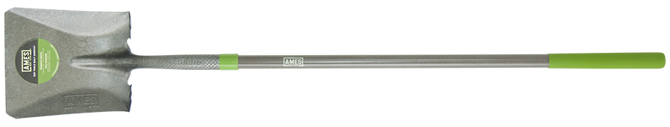 Ames  Long Fiberglass Handle Square Point Shovel