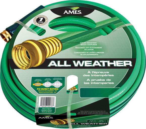 All Weather Garden Hose 100 ft x 58 in Ames