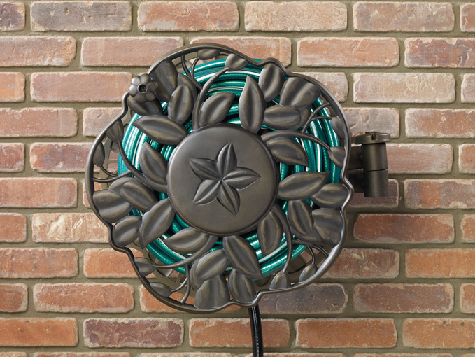 NeverLeak Decorative Wall Mount Hose Reel With Swivel Feature | Ames