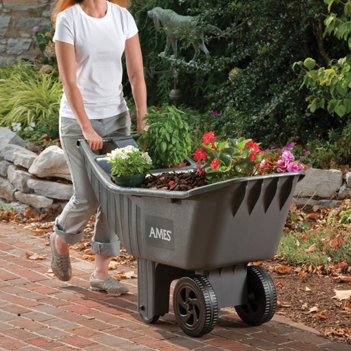 Exceptionnel Easy Roller Ames® 4 Cubic Foot Poly Yard Cart | Ames