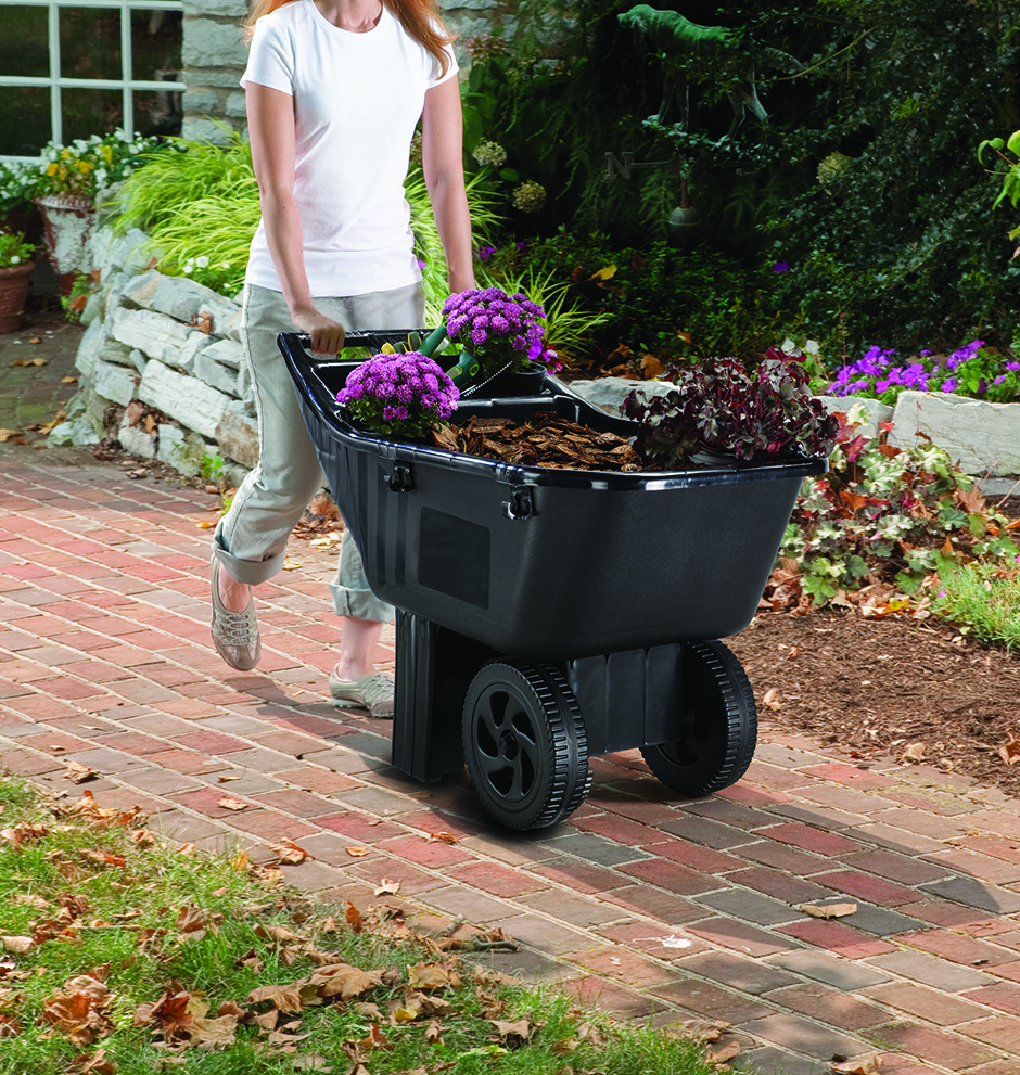 Easy Roller Jr 3 cubic foot poly yard cart Ames