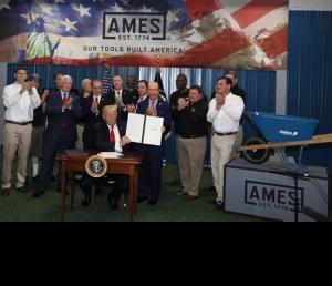 2017-04-29 - President Trump Visit to AMES Harrisburg Factory
