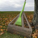 AMES Dual Tine Poly Leaf Rake with Hand Rake